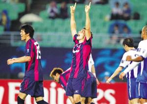 大阪樱花队员庆祝胜利