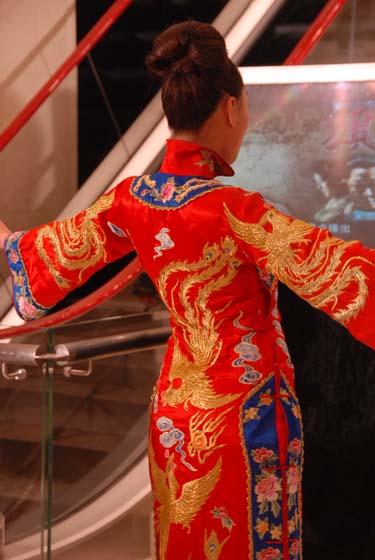 九凤旗袍背面(图文模特展示)