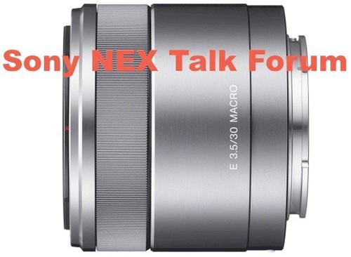索尼E卡口30mm f/3.5微距镜头谍照登场