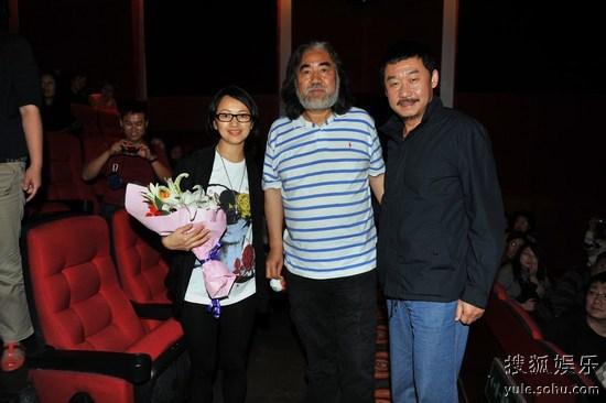 张纪中和刘桦为蒋雯丽助阵捧场