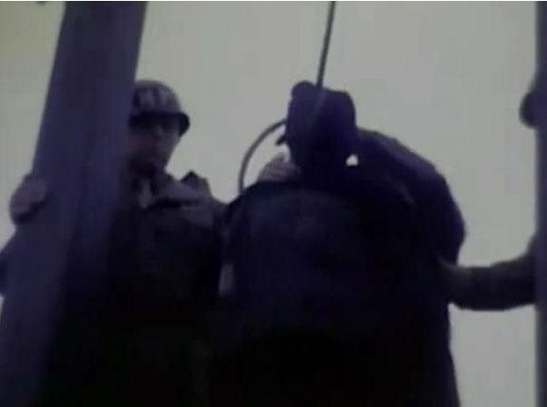 纳粹战犯处决过程连拍图片