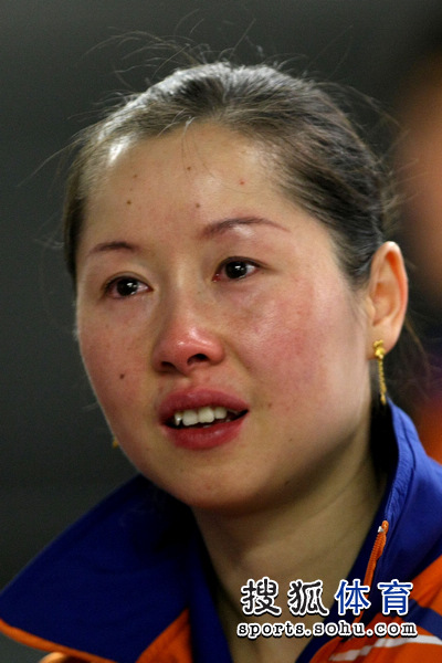 轮滑:郭焱与乒乓球输球李洁对眼赛后落伤心泪组图体育图片