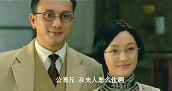 黄觉(左)与周迅夫妻造型曝光