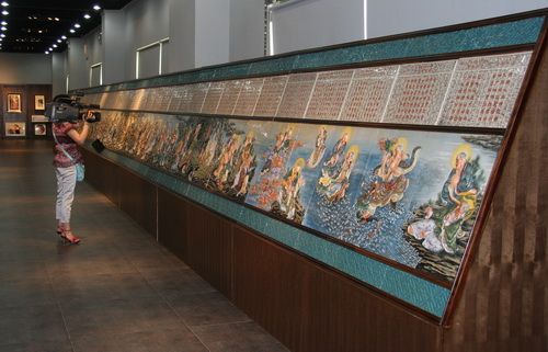 世界上最长的高温陶瓷浮雕壁画 五百罗汉图 部分