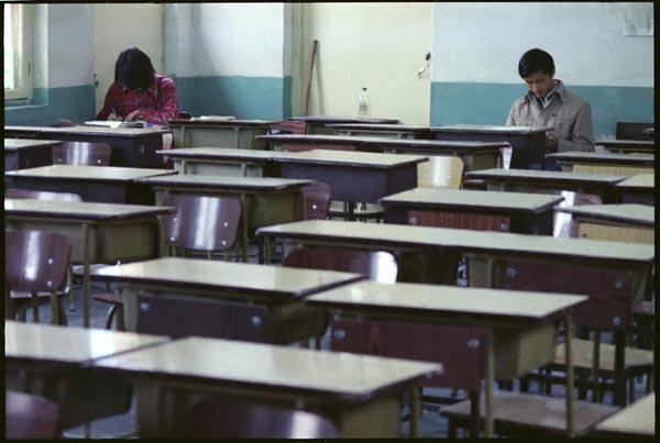 月 北京171中学教室 -80年代中学生罕见旧照图片
