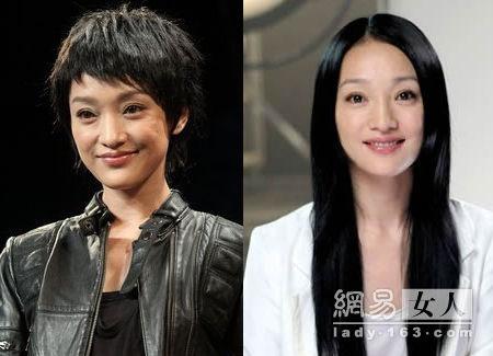 女星长发变短发谁更迷人?[图]