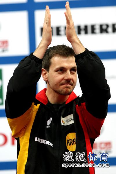 图文:世乒赛颁奖仪式举行 波尔感谢观众支持