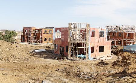 木结构别墅区快速推进十二个别墅木屋安装其中一个已经v别墅(图)市区正在湘潭图片