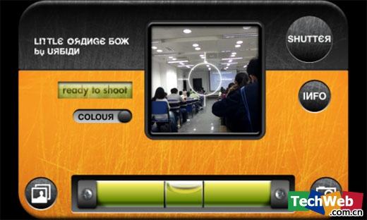 The little Orange Box相机界面(TechWeb配图)