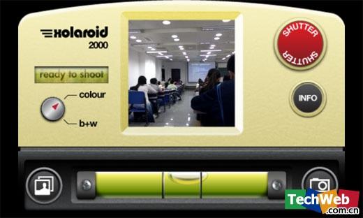 Xolaroid 2000相机界面(TechWeb配图)