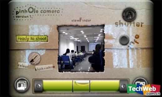 Pinhole Camera相机界面(TechWeb配图)