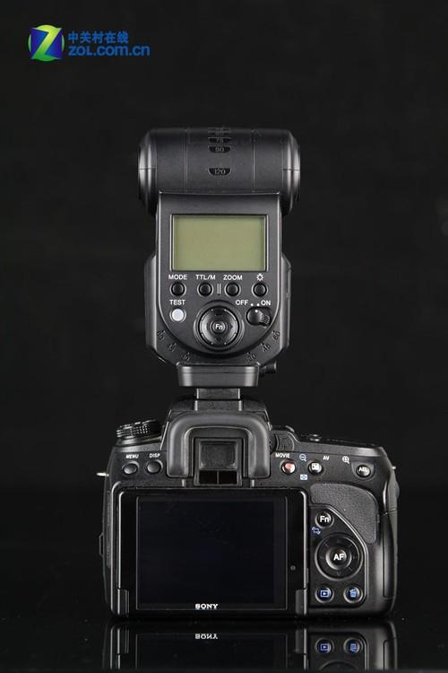 索尼/索尼A580配索尼HVL/F43AM闪光灯 背面