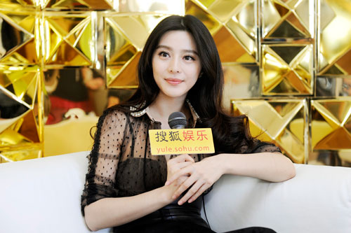 范冰冰接受搜狐娱乐专访(进入组图)