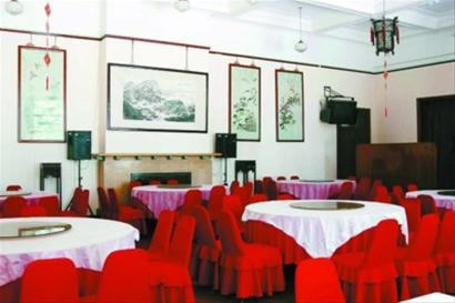美龄宫内的豪华餐厅 CFP图片资料图片
