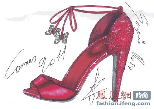 戛纳sergio rossi 凉鞋设计手稿图片