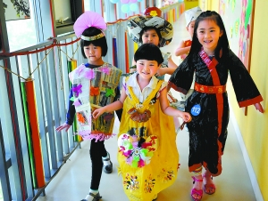 儿童环保时装秀图片