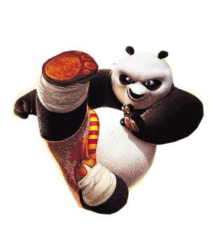 """在最新上映的《功夫熊猫2》中,憨态可掬的阿宝开始变成""""完美大侠"""".图片"""