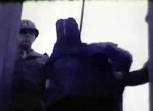纳粹战犯处决过程连拍照图片