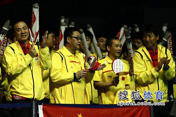 中国队助威团