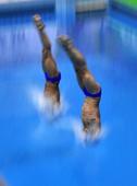 图文:德国大奖赛男双10米台 意大利组合入水