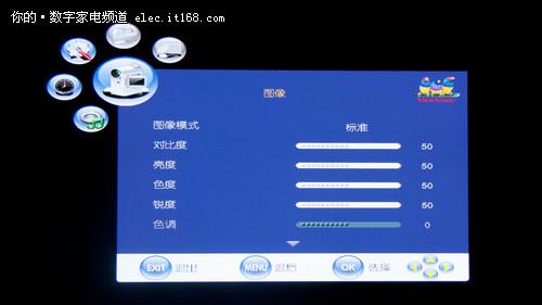 优派VPW4280-G的功能菜单