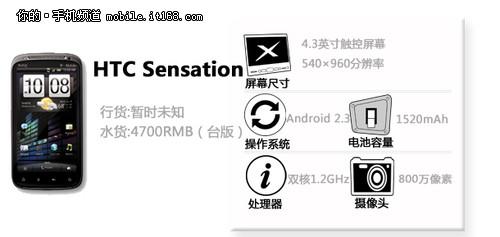 双核怪兽 HTC Sensation中文版定价曝光