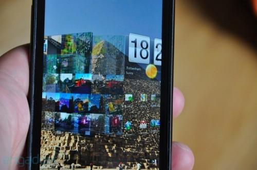 HTC Sensation待机界面切换时有3D特效
