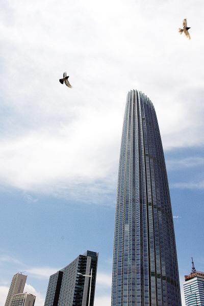 天津第一高楼挂牌[图]