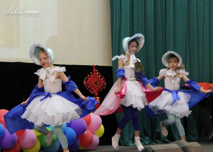 俄罗斯儿童表演法国舞蹈