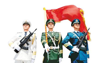 解放军三军仪仗队雄姿勃发 一举一动彰显大国形象(组图)