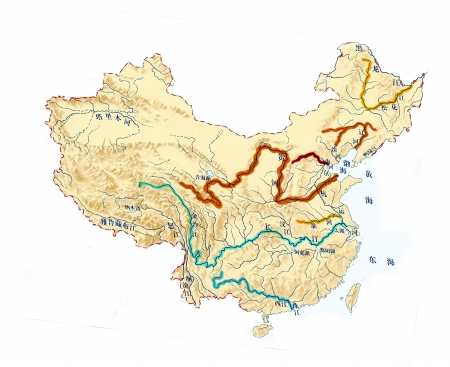 长江流域地图简笔画