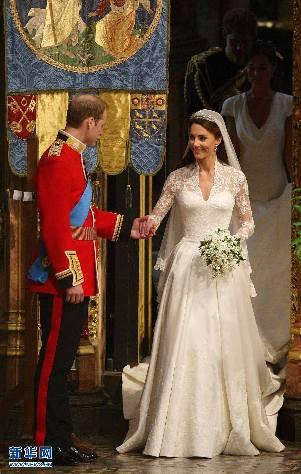 4月29日,英国威廉王子和凯特·米德尔顿在伦敦的威斯敏斯特教堂举行婚礼。新华社/英国报联社来源广州日报)