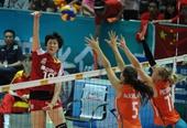 图文:北仑站中国女排夺冠 范琳琳高点强攻