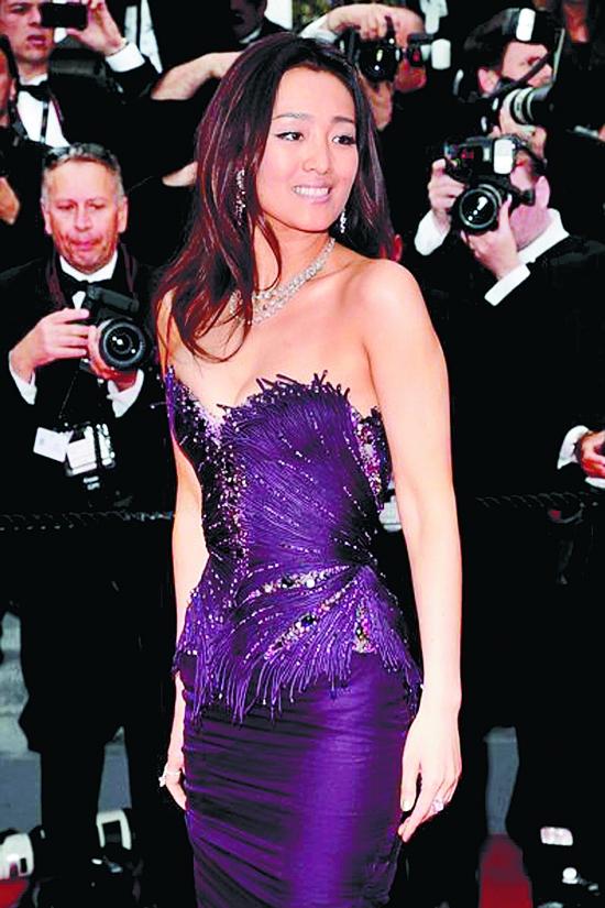 64届戛纳电影节红毯,巩俐亮相紫裙华美不了宫崎骏动画电影为什么看身着图片