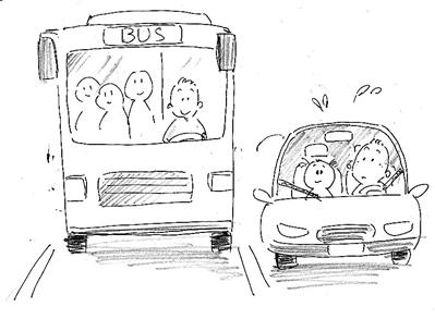 爸爸开车玩手绘