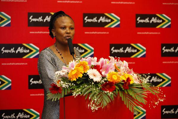 南非共和国驻中国大使馆内务部参赞蒙希女士