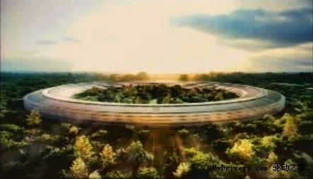 酷似太空船 苹果公布新总部设计方案