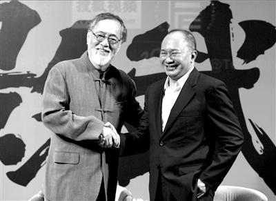 仲代达矢和吴宇森握手
