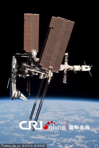 nasa首次公布航天飞机与空间站对接照片和视频(图)