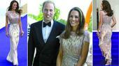 英王妃凯特出席慈善晚宴 礼服闪亮夺人眼球(图)