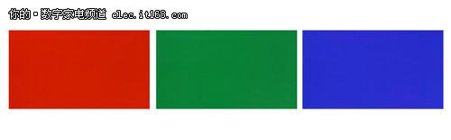 松下TH-P42C22C红、绿、蓝三原色色实拍图