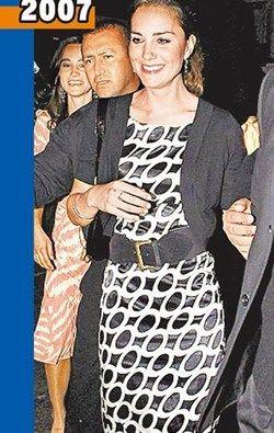 凯特王妃4年前也穿黑白相间洋装亮相(图来自台湾苹果日报)