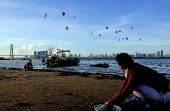 海口热气球节——15只热气球飞越琼州海峡