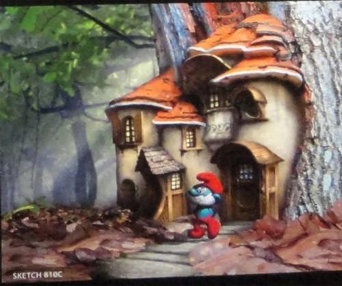 "3d""蓝精灵""概念图曝光 蘑菇房内部结构一览无余(图)"