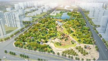 f地块大型地下停车场及主题公园鸟瞰图