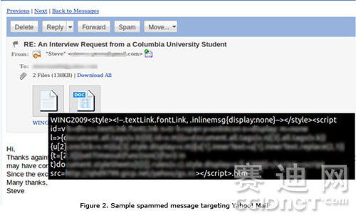 而企图攻击Yahoo信箱的电子邮件地址,也在三月被用来通过恶意Excel文件实现目标攻击。这表示有多种漏洞可被用来发动攻击。