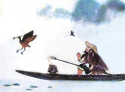 远去的水墨动画 鹬蚌相争