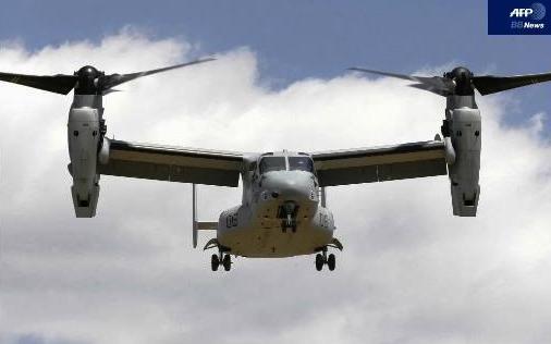 美军宣布将在冲绳配备12架鱼鹰垂直升降运输机