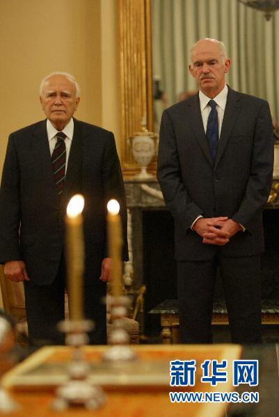 希腊总理大幅改组内阁 原国防部长出任财长(组图)