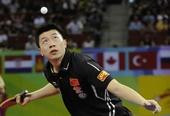 图文:中国公开赛马琳4-2马龙夺冠 马龙发球